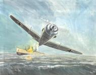 Original illustration Messerschmitt Plane Issue Kursk  by DIMITRI