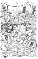 Bande Dessinée : Original cover AVENGERS : MARVEL ADVENTURE by Niko HENRICHON