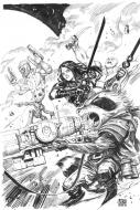 Bande Dessinée : Original cover THE GUARDIANS OF THE GALAXY issue 2 of by Niko HENRICHON