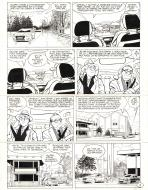 Original comic page 9 from te last volume of JEROME K JEROME BLOCHE by Alain DODIER