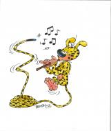 Illustration originale du Marsupilami par BATEM