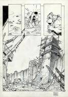 Original comic page 33 from Solo, issue 1 Les survivants du chaos by Oscar MARTIN