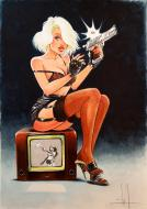 Comics illustration, Napoleon Gallery : PIN UP - original painting - Pin Up n°1 - by MIKA -
