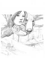 Cover penciled art from SNOW WHITE by MEDDOUR