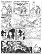 Original comic page 17 Issue 13 Percevan Les terres sans retour  by Philippe LUGUY