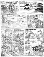 Original  comic page 2 Issue 15 from Percevan Le huitième royaume by Philippe LUGUY