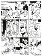 Original comic page 14 from Theodore Poussin issue 10 part 2 by Frank LE GALL