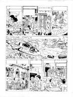 Original comic page 27 of Lefranc Issu 9 - La Crypte by Gilles Chaillet