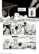 Original comic page from ARIA Issue 7 by Michel WEYLAND