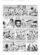Original comic page 28 from BARBE ROUGE - Issue 31. La guerre des pirates