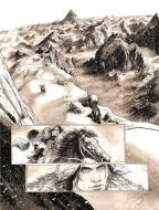 Original comic page 50 from LES CHEVALIERS D'HELIOPOLIS Issue 2 - Albedo, L'Oeuvre au blanc