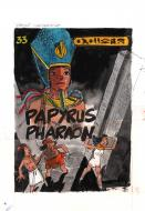 Original draft comic cover  from PAPYRUS Issue 33 by DE GIETER Lucien