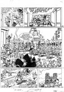 Original  comic page 39 Issue 2 from Godaille et Godasse  Sacré sacre by Jacques SANDRON