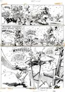 Original  comic page 43 Short story for Spirou from Godaille et Godasse  Pont miné by Jacques SANDRON