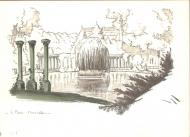 Original illustration - Parc Monceau n°2 - by Michel RIU