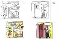 EVEN's original comic art from RACHEL THE LITTLE MOUSE Issue 1 original page 5 and 6.