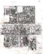 Original comic sketch page 30 from Vasco issue 24 Le Village Maudit by Frédéric TOUBLANC