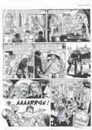 Original  comic page 33 Issue 24 VASCO le village maudit by Frédéric TOUBLANC