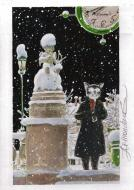 ARINOUCHKINE's original illustration Cat : a statue in winter