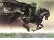 ARINOUCHKINE's original illustration Black knight