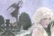 ARINOUCHKINE's original illustration : Woman in the cemetery