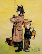 Illustration originale de Blacksad publiée en 2014 dans Color Spots par Juanjo GUARNIDO