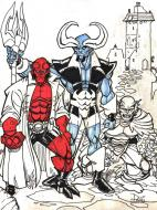 Illustration originale de HELLBOY