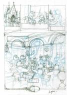 Original sketch of page 46 of LES ENFANTS DU CAPITAINE GRANT issue 3 by NESME