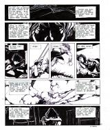 Pierre MAKYO's original comic art GRIMION LEATHER GLOVE original page 10.