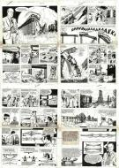 ONCLE PAUL short story 4 original comic pages (complete story)