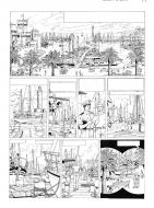 Original comic page 1 Issue 9 La Crypte by Gilles CHAILLET