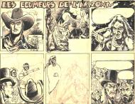 Robert LEGUAY's original comic artLES ECUMEURS DE L'ARIZONA