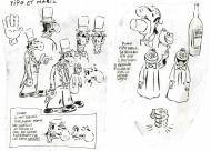 Characters research Pipo et Mario by Philippe VUILLEMIN