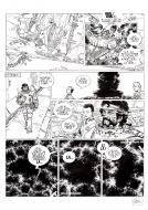 Original comic page from Dans l'ombre du soleil, issue 2 Mantell by Colin Wilson