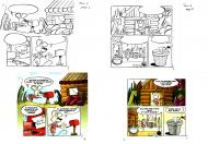 EVEN's original comic art from RACHEL THE LITTLE MOUSE Issue 1 original page 1 and 2.