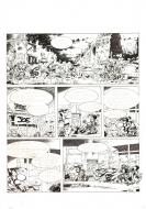 JOE BAR TEAM series original comic page 8 Issue 3