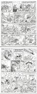 Original  2 comic pages gag from the Nabuchodinosaure series by Roger WIDENLOCHER