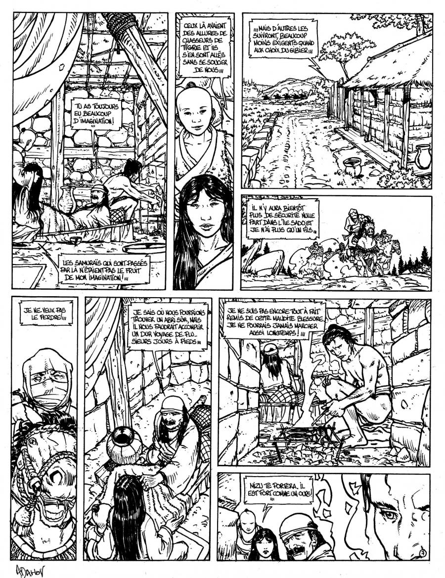 Original Comics illustration, Napoleon Gallery : LE VENT DES DIEUX - Original comic Page 7 Issue 4 from Le vent des dieux by Philippe ADAMOV - 7