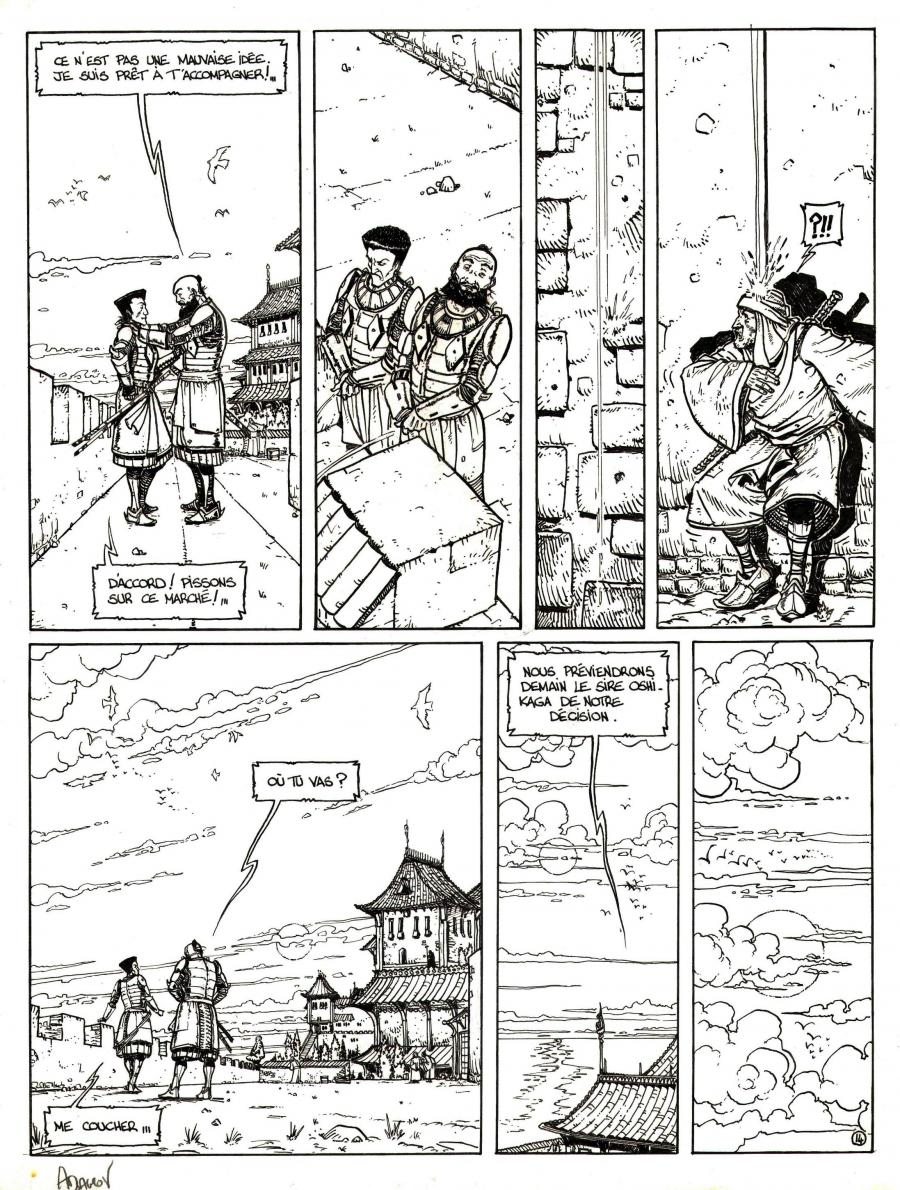 Original comic Page 14 Issue 3 from Le vent des dieux by Philippe ADAMOV