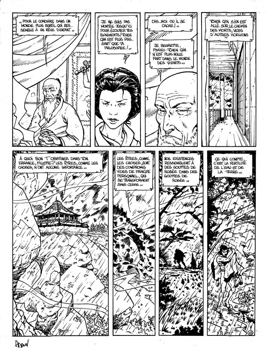 Original comic Page 43 Issue 3 from Le vent des dieux by Philippe ADAMOV