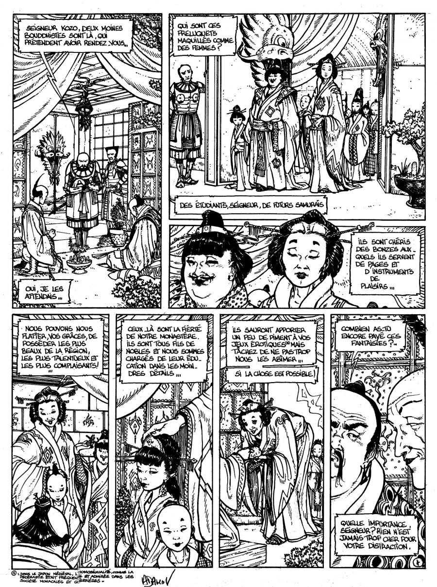 Original comic Page 4 Issue 3 from Le vent des dieux by Philippe ADAMOV