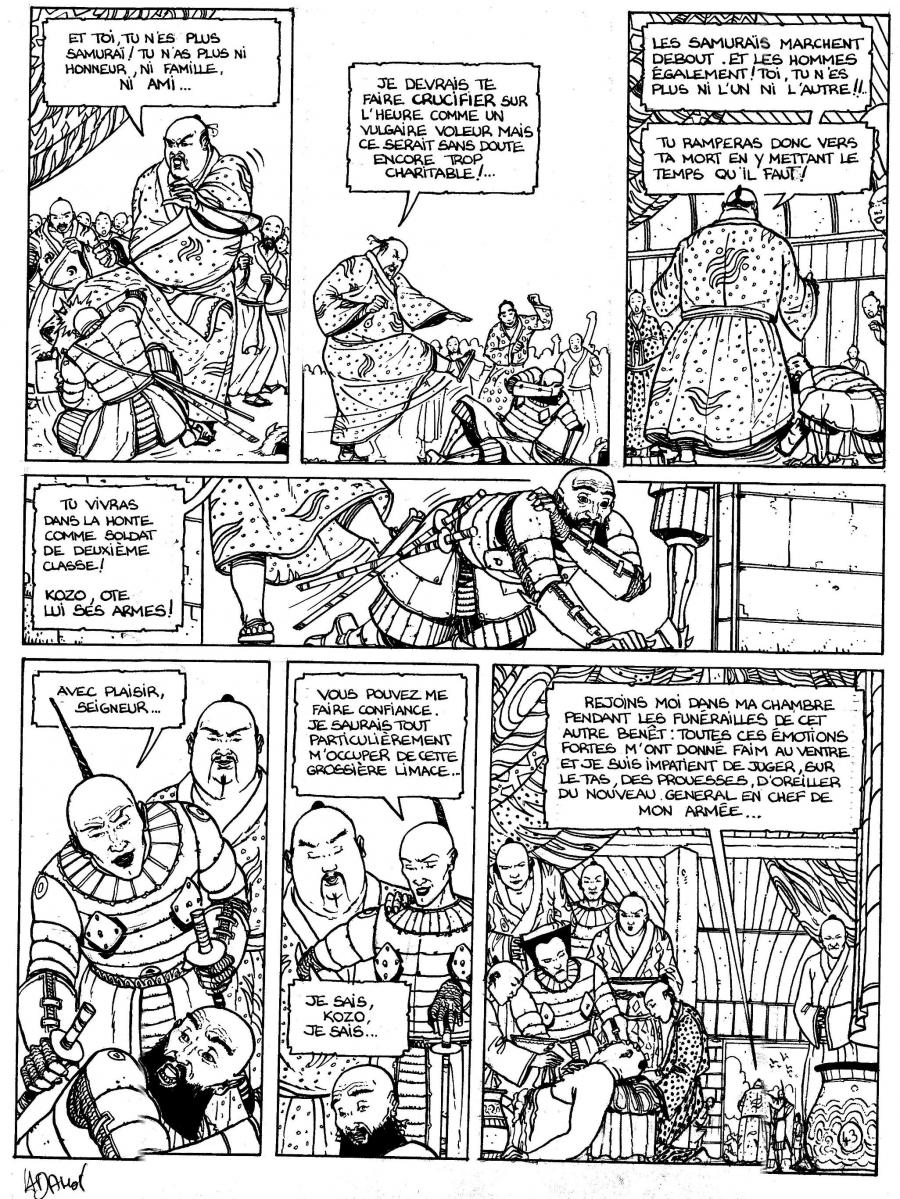 Original comic Page 43 Issue 1 from Le vent des dieux by Philippe ADAMOV