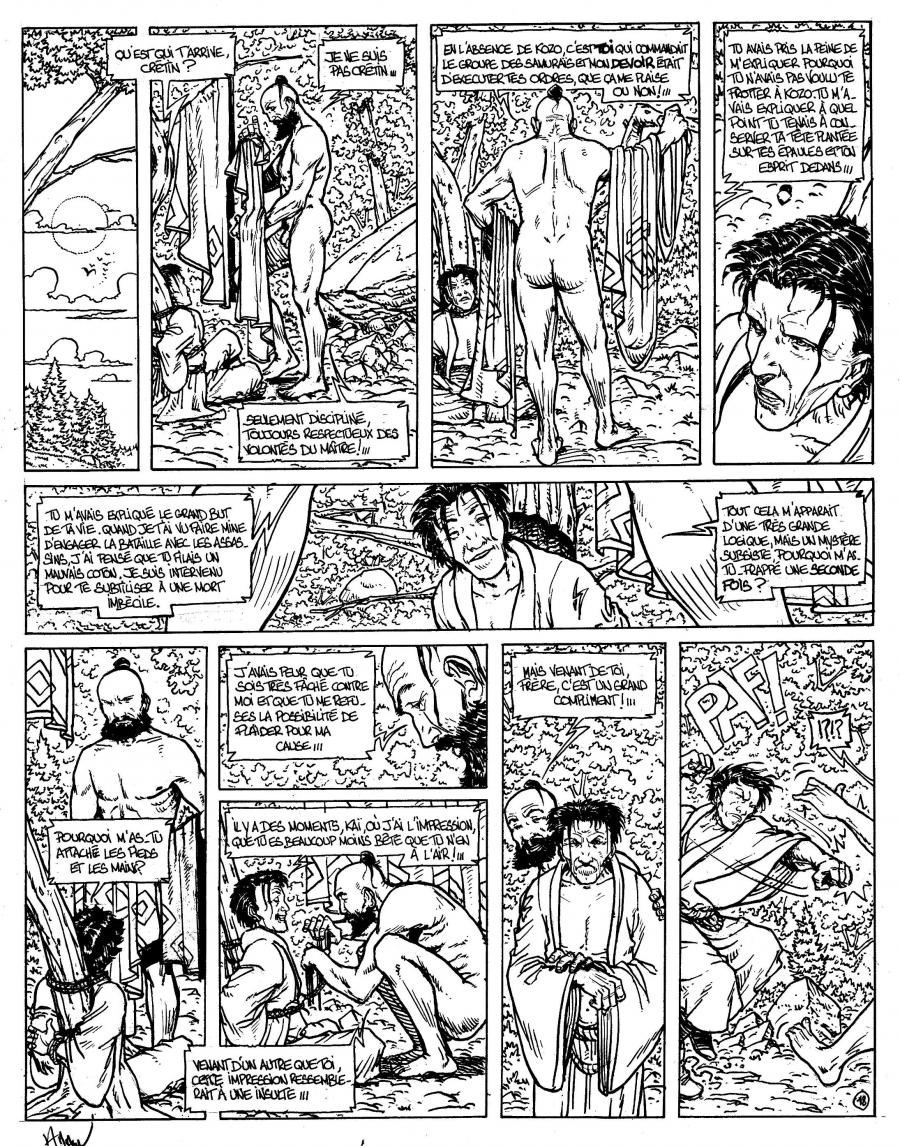 Original comic Page 18 Issue 4 from Le vent des dieux by Philippe ADAMOV