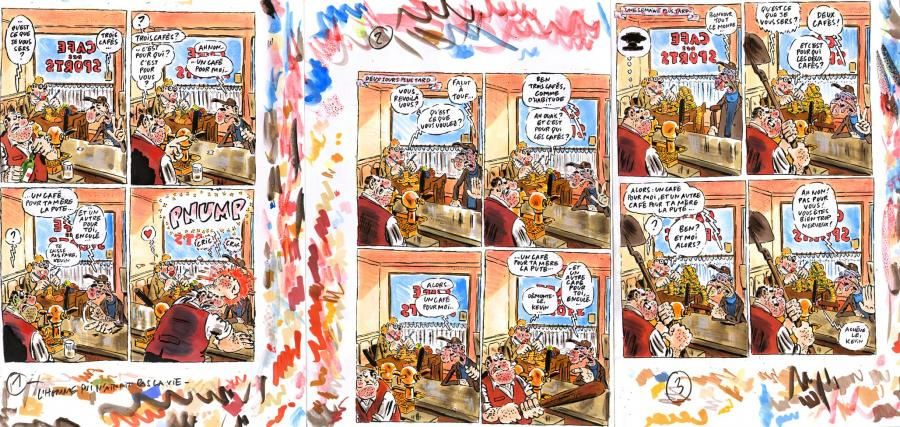 VUILLEMIN's Original comic art