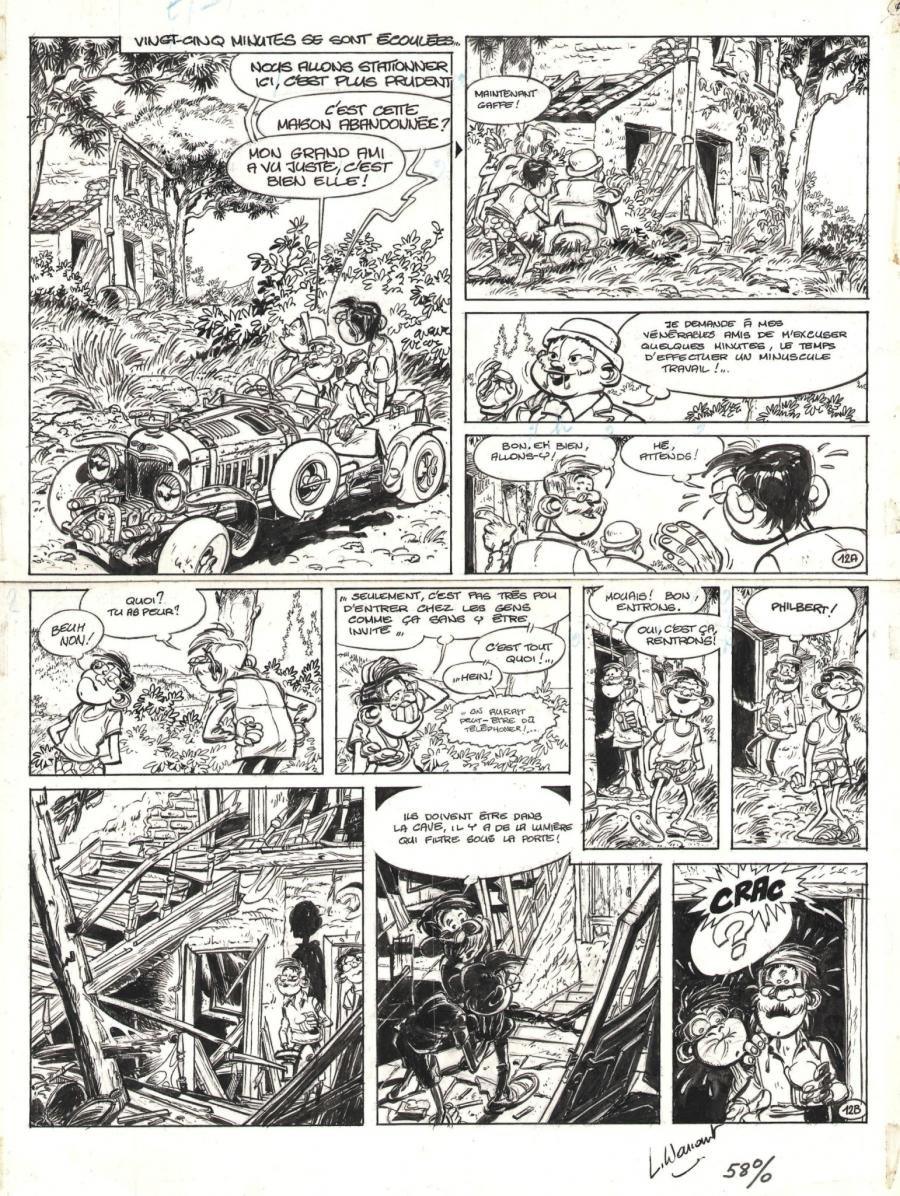 Original comic page 12 from volume 1 of TIMOTHEE O. WANG - Le Tibétain -