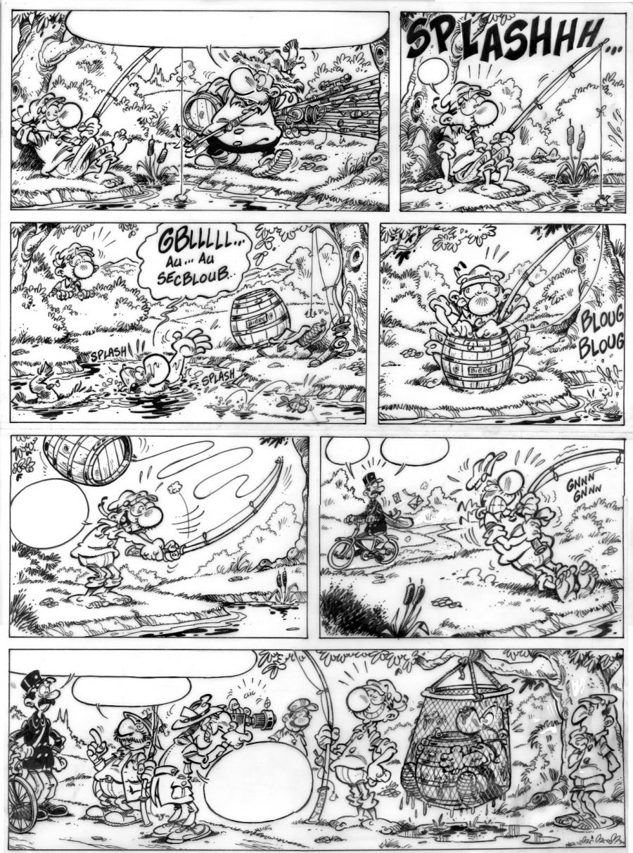 Original comic Art Achille TALON series original page