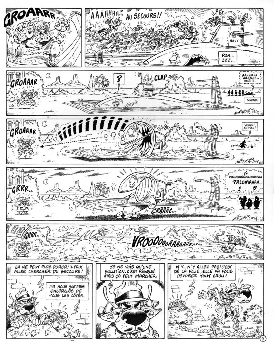 planche originale de COYOTE BILL