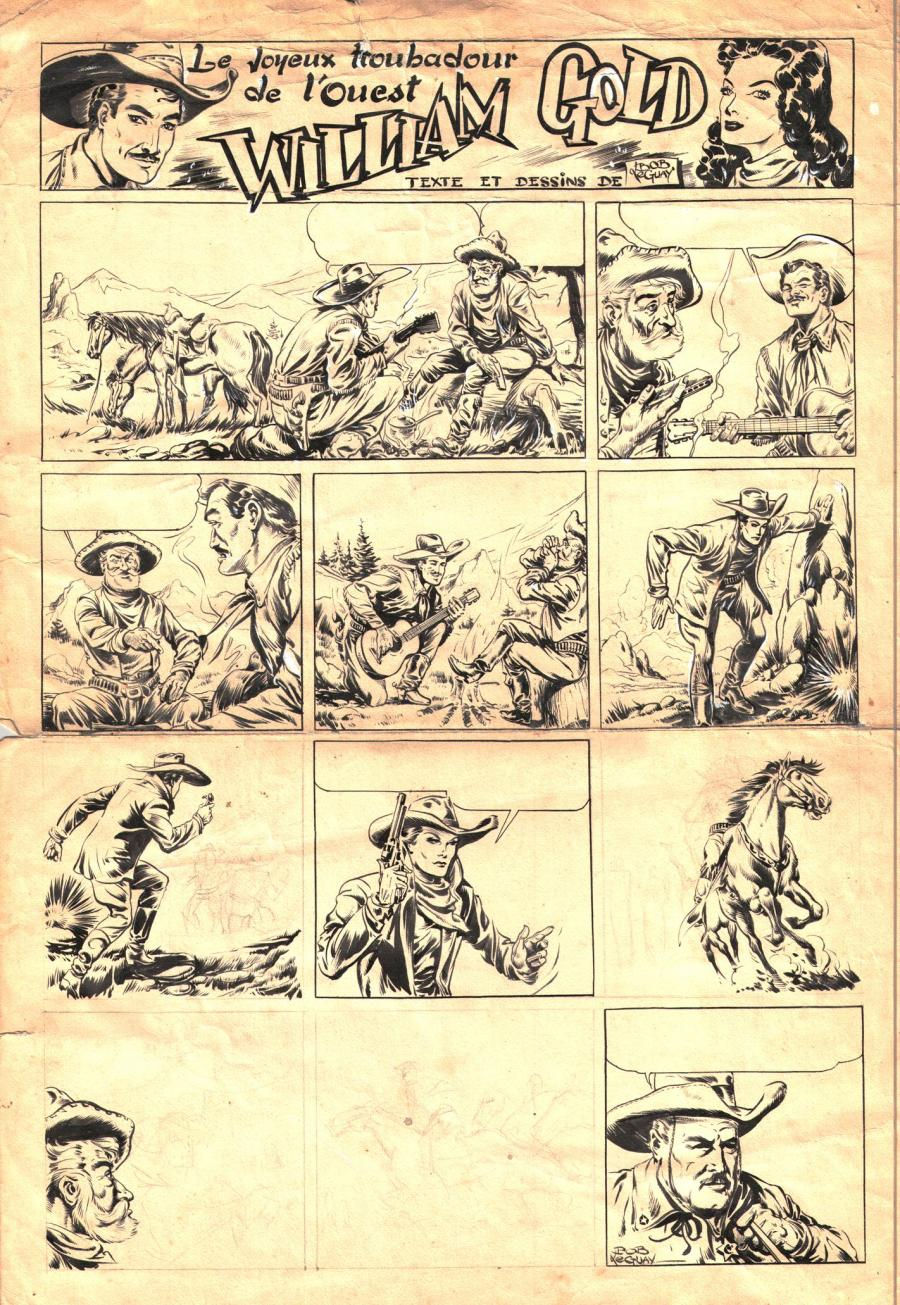Planche originale de WILLIAM GOLD par Bob LEGUAY